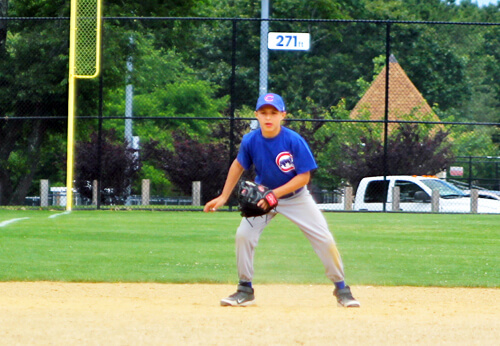 third baseman in field