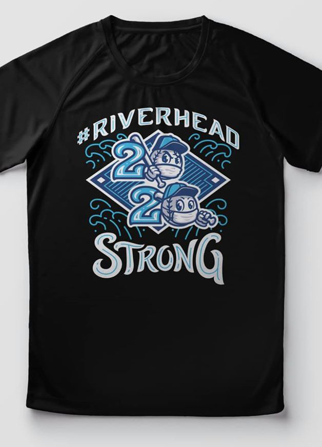 T-Shirt with Riverhead Strong baseball field